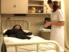 Japanese naughty nurse gets a creampie from her patient