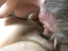OldNanny Grany playing with horny student