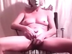 Sitting on chair and having an orgasm