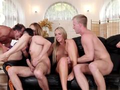 Crazy pornstars Gabrielle Gucci, Jenny Simons in Incredible DP, Group sex sex scene