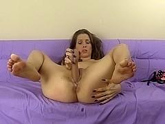 Submissive Spanking Dildo Fucking