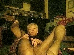 fucking about in panty hose ..