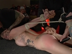 Slinky slut gives it up in an adult movie theater.