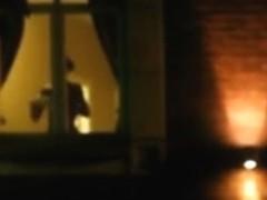Naked in Hotel window