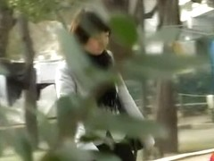Park sharking meeting with na.ve Asian sweetie being tricked by random stranger