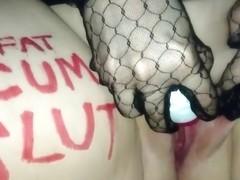 SSBBW slutty GF masturbates untill orgasm