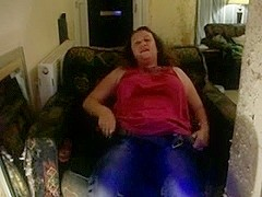 Shaggy big beautiful woman masturbates and gives fellatio
