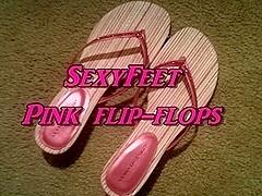 Pink flip-flops