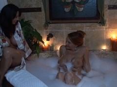 Janet Mason & Bibette Blanche in Lesbian Triangles #10