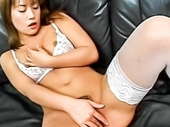 Exotic Japanese slut in Horny JAV uncensored Stockings clip