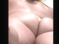 hot sexy mature huge ass tiny thong beach spy 33