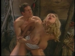 Briana Banks is a rich homeowner screwed by her chauffeur on barn floor