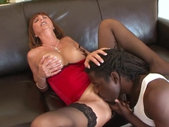 Incredible pornstar Desi Fox in amazing big tits, interracial porn movie