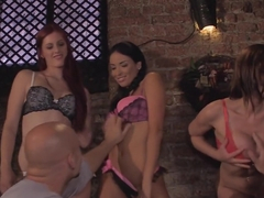 Amazing pornstars Anissa Kate, Abbie Cat and Mira Sunset in incredible facial, anal sex movie