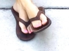 Sexiest Mexican feet ever teen pink toes
