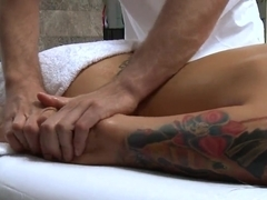 Mick Blue massages Eva Angelina's butt the right way