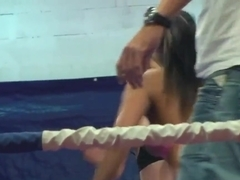 Lioness and Ionella wrestle in a sexy fashion