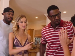Haley Reed Humiliates Cuckold With Two Black Men