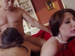 Amazing pornstars Valentina Nappi and Samantha Bentley in crazy threesome, dildos/toys porn movie