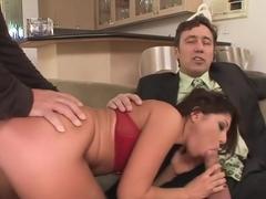 Crazy pornstar Britney Stevens in incredible anal, brunette porn clip