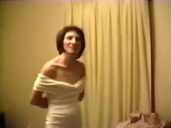 Non-Professional black brown wife in sexy lingerie in our sofa on web camera