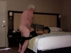 Horny Old Rich Man Fucks His Sexy Slim college girl Hooker