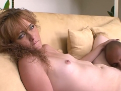 Hottest pornstar Miss Lady in fabulous redhead, interracial sex video