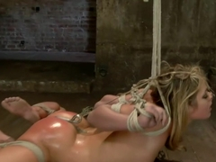 Blonde fuck slut squeals and begs to cum.
