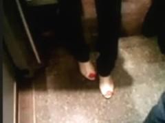 Feet in a metro train V