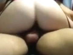 My hot wife jumps on my shaft while wearing sexy stockings