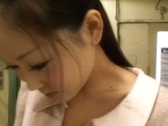 Silly japanese whore has really small pretty boobies