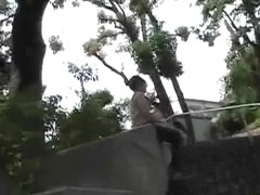 Park sharking attack with lovable oriental slut being caught off her guard