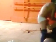 Voyeur tapes a latina having doggystyle sex with her bf in an abandoned building