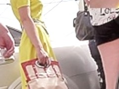Fabulous upskirt booty clip