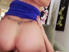 Fabulous pornstar in Amazing Blowjob, Brunette sex video
