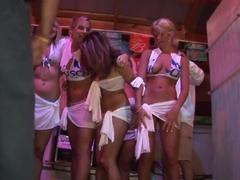 Fabulous pornstar in crazy group sex, striptease adult clip