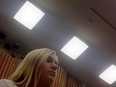 Candid blonde feet in class part 1