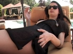 Georgia Jones in Smoking Georgia Jones Teasing By Pool Video