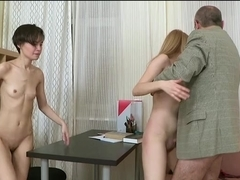 Raunchy and wild table sex