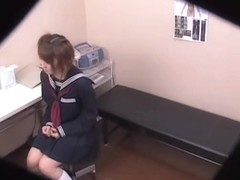 Asian slut penetrated hard by Kushino at the medical clinic