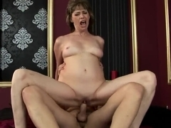 Mature slut Judyt jumping up and down on her boyfriend�s dick and passionately moaning from great fuck pleasure.