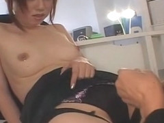 Fabulous Japanese girl Mai Kanzaki in Amazing Office, Cunnilingus JAV video