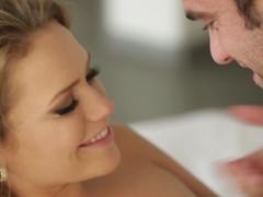 Horny pornstars Mia Malkova, Logan Pierce in Crazy Blonde, Small Tits sex scene