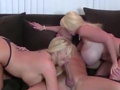 Exotic pornstars Kayla Kleevage and Karen Fisher in hottest blowjob, blonde sex clip