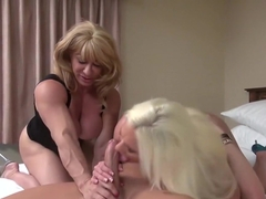 Best pornstars Ashley Starr and Kat Connors in amazing big tits, threesome porn scene