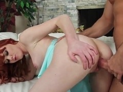 Gorgeous Pale Redhead Marie McCray Fucked By Her Boyfriend's Son