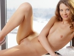 Sexy porn art video of Tini masturbating