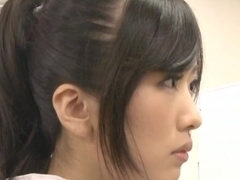 Lusty Japanese AV Model is a hot milf in her office suit