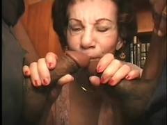 Grannies in group sex
