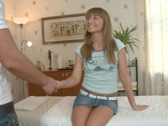 Titted blond drilled by massage therapist